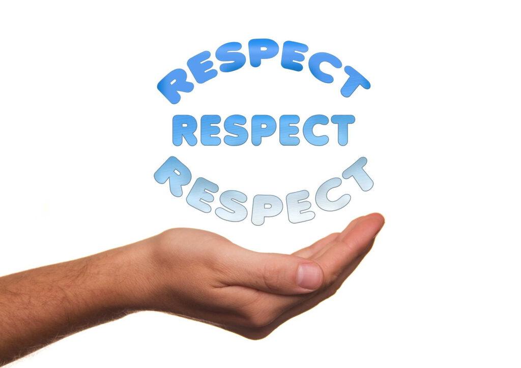 Respekt in der Hand